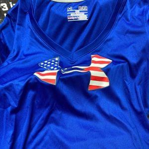Under Armour women's Heatgear USA shirt M